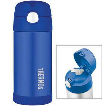 Thermos FUNtainer&trade Stainless Steel Insulated Straw Bottle - Blue - 12 oz