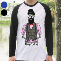 Danny Hatrick Hipster Baseball Shirt Scary Hipster Skeleton Cool and Groovy