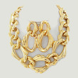 Rococo glossy gold chunky link necklace Set