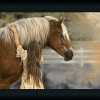 First Love by Lesley Harrison Brown Horse Art Print Framed