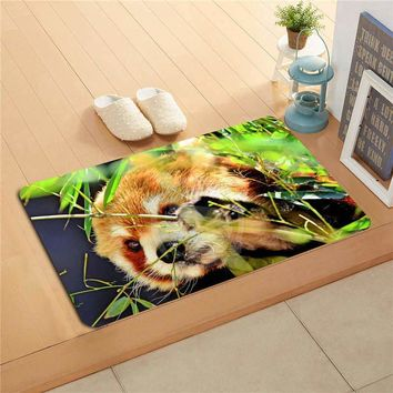 Autumn Fall welcome door mat doormat W530L16 Custom beauty the red Panda Watercolor Painting   Home Decor  Floor Mat Bath Mats foot pad #F15 AT_76_7