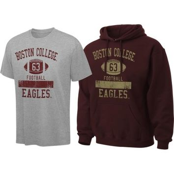 Boston College Eagles Maroon Hooded Sweatshirt/T-Shirt Combo Pack