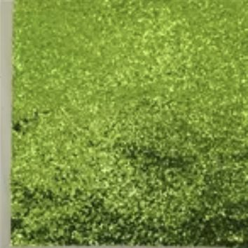 Chunky lime green glitter faux leather fabric sheet