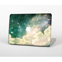 "The Cloudy Abstract Green Nebula Skin Set for the Apple MacBook Pro 15"" with Retina Display"