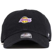 Los Angeles Lakers Abate Clean Up Unstructured Strapback Hat Black