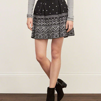 Patterned Sweater Skirt