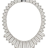 Allover Pave Geo Collar Necklace