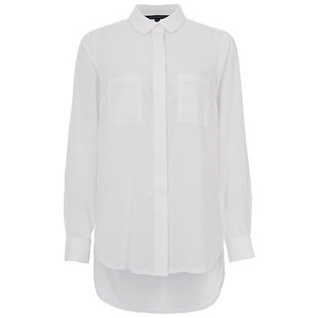 Buy French Connection Polly Plains Pocket Detail Shirt, Summer White | John Lewis