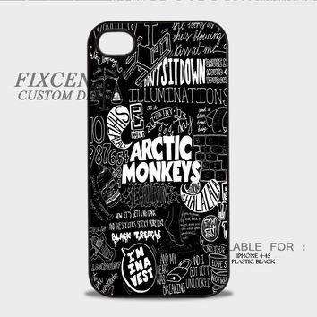 Arctic Monkeys Rock Band Music BW Plastic Cases for iPhone 4,4S, iPhone 5,5S, iPhone 5C, iPhone 6, iPhone 6 Plus, iPod 4, iPod 5, Samsung Galaxy Note 3, Galaxy S3, Galaxy S4, Galaxy S5, Galaxy S6, HTC One (M7), HTC One X, BlackBerry Z10 phone case design
