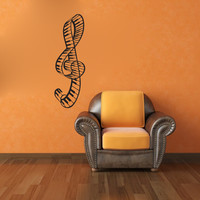 Piano Keys Clef Music Note Vinyl Wall Words Decal Sticker Graphic