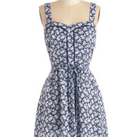 ModCloth Mid-length Sleeveless A-line Lead the Pack Dress in Floral
