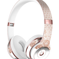 Rose Gold Lace Pattern 6 Full-Body Skin Kit for the Beats by Dre Solo 3 Wireless Headphones