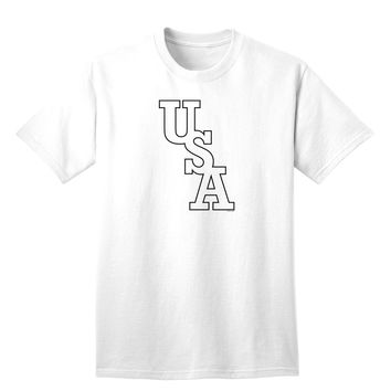USA Text Adult T-Shirt