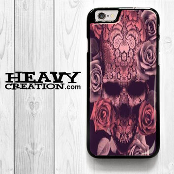 Beautiful Skull for iPhone 4 4S 5 5S 5C 6 6 Plus , iPod Touch 4 5  , Samsung Galaxy S3 S4 S5 S6 S6 Edge Note 3 Note 4 , and HTC One X M7 M8 Case