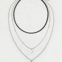 AEO Triple Layer Necklace, Silver