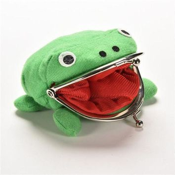 PEAPGC3 2016 New Arrival Frog Wallet Anime Cartoon Wallet Coin Purse Manga Flannel Wallet Cute purse Naruto Coin holder