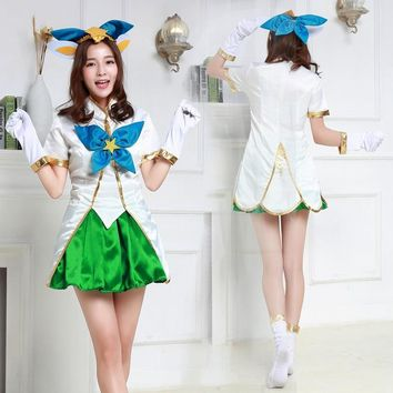 lol New Skin Star Guardian Faerie Witch Lulu cosplay costume for girls Cosplay Uniform Halloween Costumes