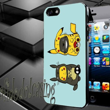 Totoro and Pikachu Case For iPhone 4/4s, iPhone 5/5S/5C, Samsung S3 i9300, Samsung S4 i9500 *rafidodolcasing*