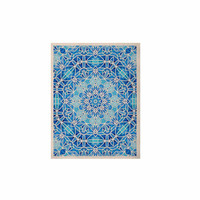 "Art Love Passion ""Star Snowflake"" Blue Aqua KESS Naturals Canvas (Frame not Included)"