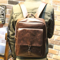 Vintage Mens Leather Backpack