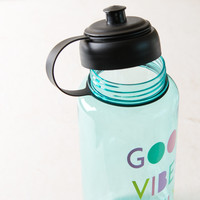 Good Vibes Only Mint Sports Water Bottle