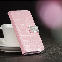 Mobil accesories shining rhinestone leather protective phone case for iPhone 5 phone case friendship love gifts trending