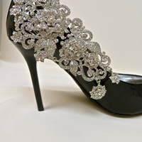 Bridal Shoe Clips-Crystal Rhinestone Shoe Ciip-Bridal Party-Set of 2- Manolo Blahnik