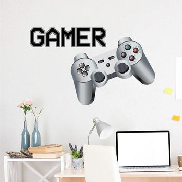 cik1499 Full Color Wall decal controller console Xbox 360 Game PS4 player bedroom teens