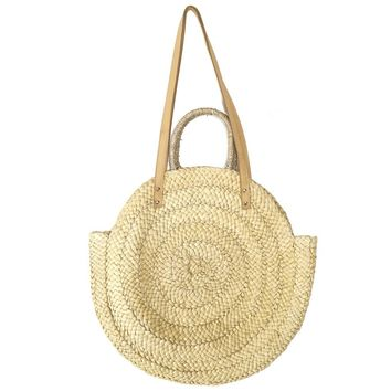 Straw Weekend Tote
