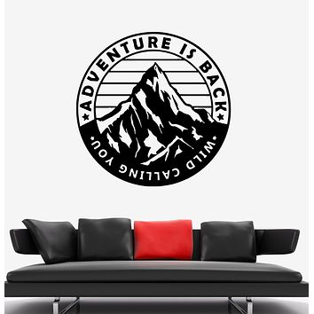 Wall Decal Adventure is Back Mountains Expedition Nature Vinyl Sticker (ed1433)