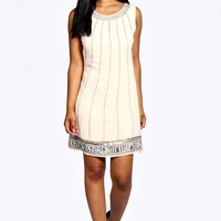Gracie Heavy Embellished Woven Shift Dress