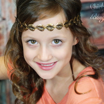 Gold Leaf Bohemian Chain Headband