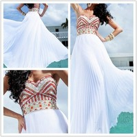 Attractive A-line Chiffon Floor Length Prom Dress