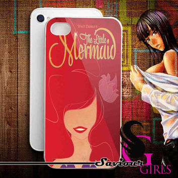 Disney The Little mermaid for iPhone 4/4S, 5/5S, 5C and Samsung Galaxy S3, S4 - Rubber and Plastic Case