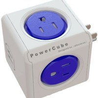 PowerCube Original USB, Surge Protector, Electric Outlet Wall Adapter Power Strip with 4 outlets, Dual USB Port 4220BL/USOUPC