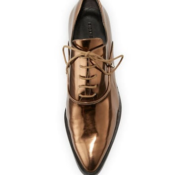 Sigerson Morrison Edie Metallic Leather Oxford, Bronze