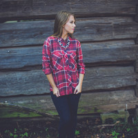 Classic Plaid Flannel in Red