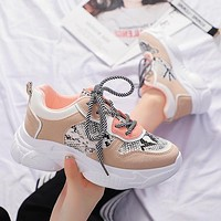 Fashion snakeskin sports shoes small white shoes casual women's shoes