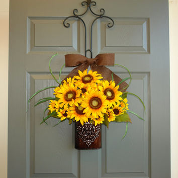 WREATHS ON SALE summer wreath fall wreaths sunflowers wreaths door decor yellow front door wreaths fall outdoor wreaths