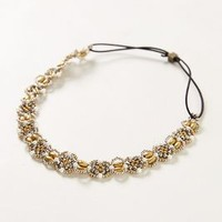 Beaded Fiori Headband by Anthropologie Pearl One Size Hair
