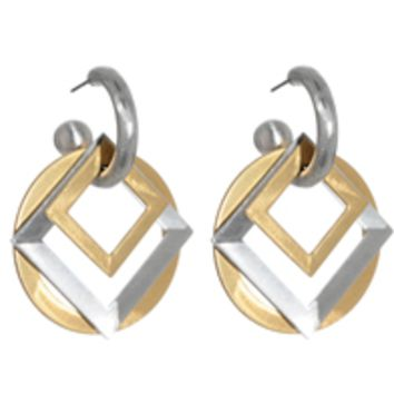 Squares Convertible Hoop Earrings