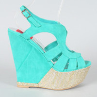Fahrenheit Selita-07 Strappy Open Toe Wedge