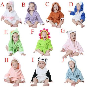Baby Bathrobe Cartoon Character Bathing Towel