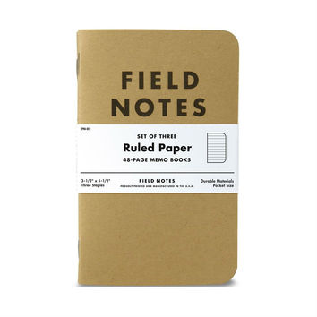 Field Notes Original Ruled 3-Pack