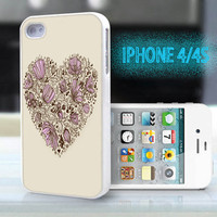 unique iphone case,glitter i phone 4 4s case,cool cute iphone4 iphone4s case,stylish  plastic rubber cases,yellow floral heart love ,B2006