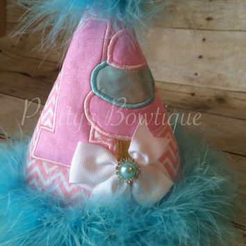 Circus Carnival Birthday Party Hat  Cotton Candy Party Hat