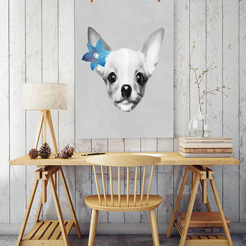 Free to Dream Chihuahua art, chihuahua wall art, chihuahua print, animals wall art, animals printable art, printable art, home decor print