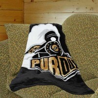 Purdue Boilermakers 50'' x 60'' Black-Gold Team Spirit Royal Plush Blanket Throw