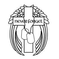 Never Forget Military Decal Cross Angel Wings Dog Tags decal Custom Vinyl Computer Laptop Car auto vehicle window decal custom sticker Decal