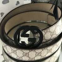 Gucci Style Double GG Belt